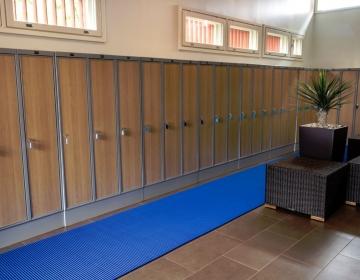 nerostep riietusruumi pehme põrandamatt rullis sinine