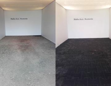 restpõrand paigaldatud freesasfalt kruusasele maapinnale näide
