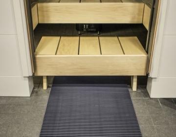 Sauna, leiliruumi põrandamatt 4