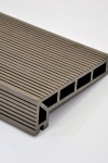 Puitplastkomposiidist (WPC) servalaud | õõnes laud | 4 meetrit | tumepruun