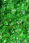 Purustatud klaas, roheline