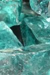 Purustatud klaas, türkiissinine